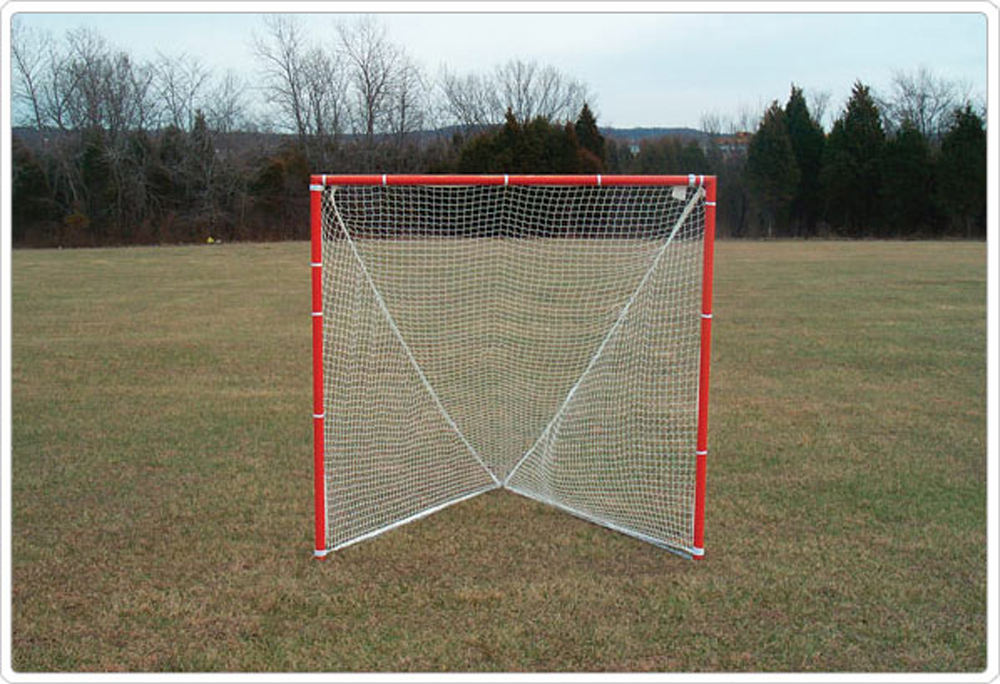 Portable Lacrosse Goal and Net, Pair, 6' x 6' x 7'
