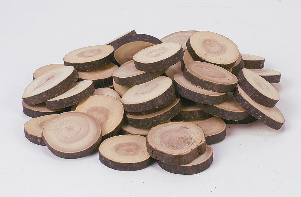 Craft Rounds, 50 Smooth Wood Discs