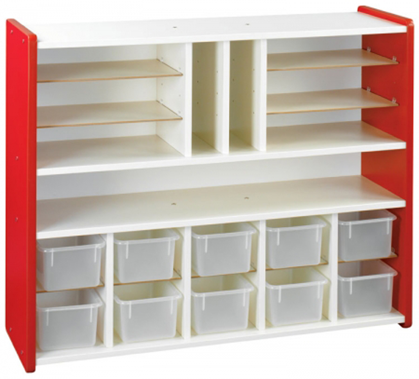 Sectional Storage with Trays