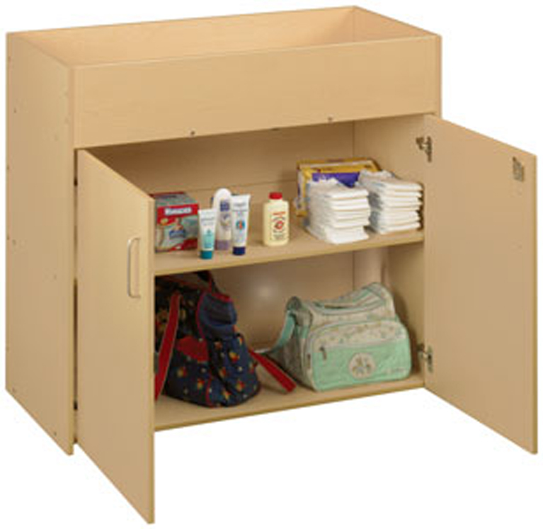 Infant Changing Table with Doors