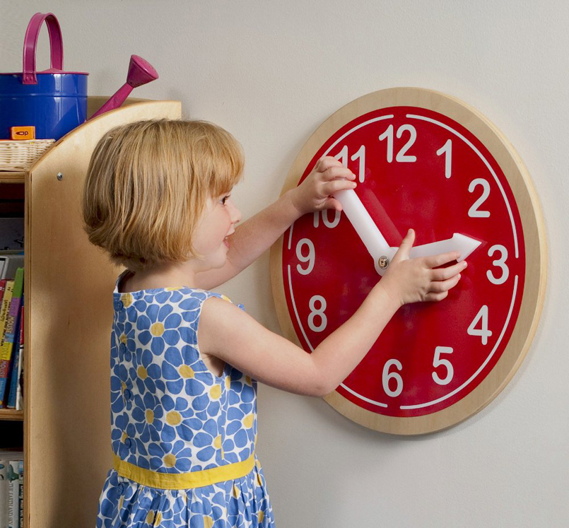 What Time Is It? Red Wall Clock
