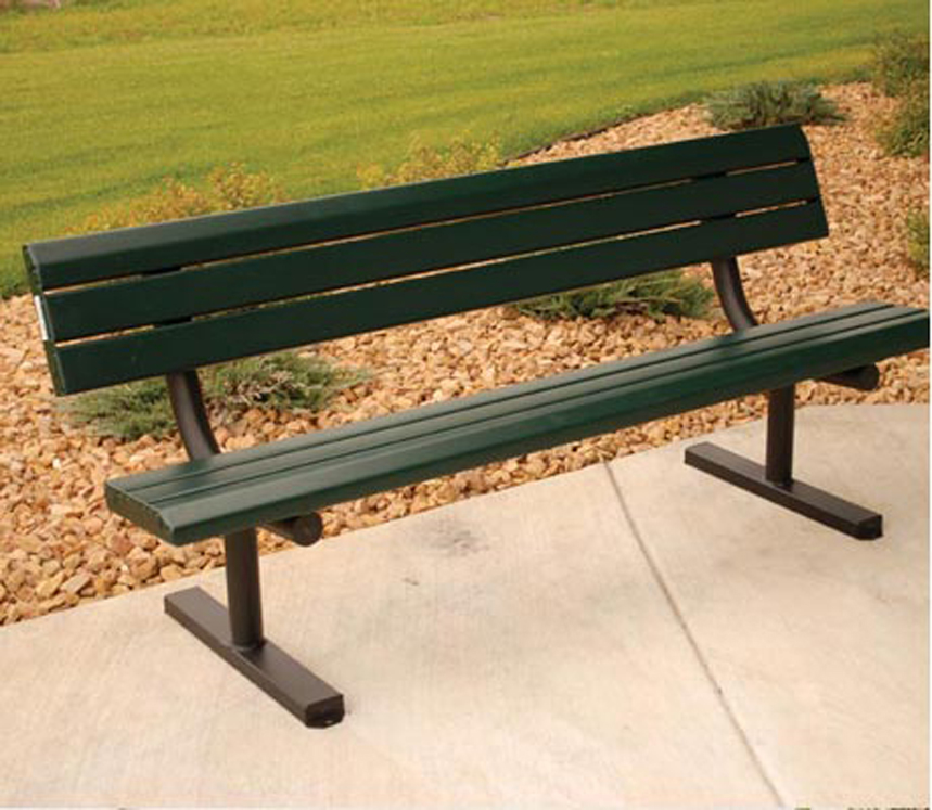 Park Series 6' or 8' Bench - Multiple Mounting Options