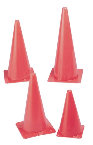 Hi Visibility Fluorescent Poly Cones - Select Size