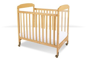 Serenity Compact Mirror Fixed Side Crib with Adjustable Mattress Board