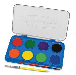 Jumbo Watercolor Paint Set - 8 Colors