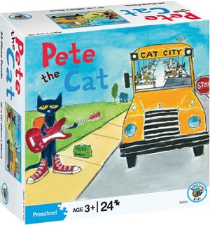 Pete the Cat 24-Piece Puzzle - On the Bus