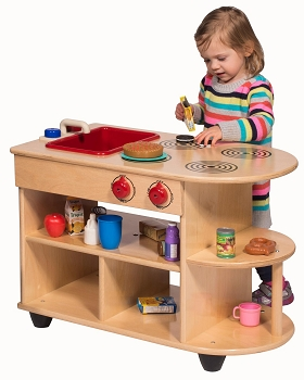 Value Line Birch Toddler 2-in-1 Kitchen