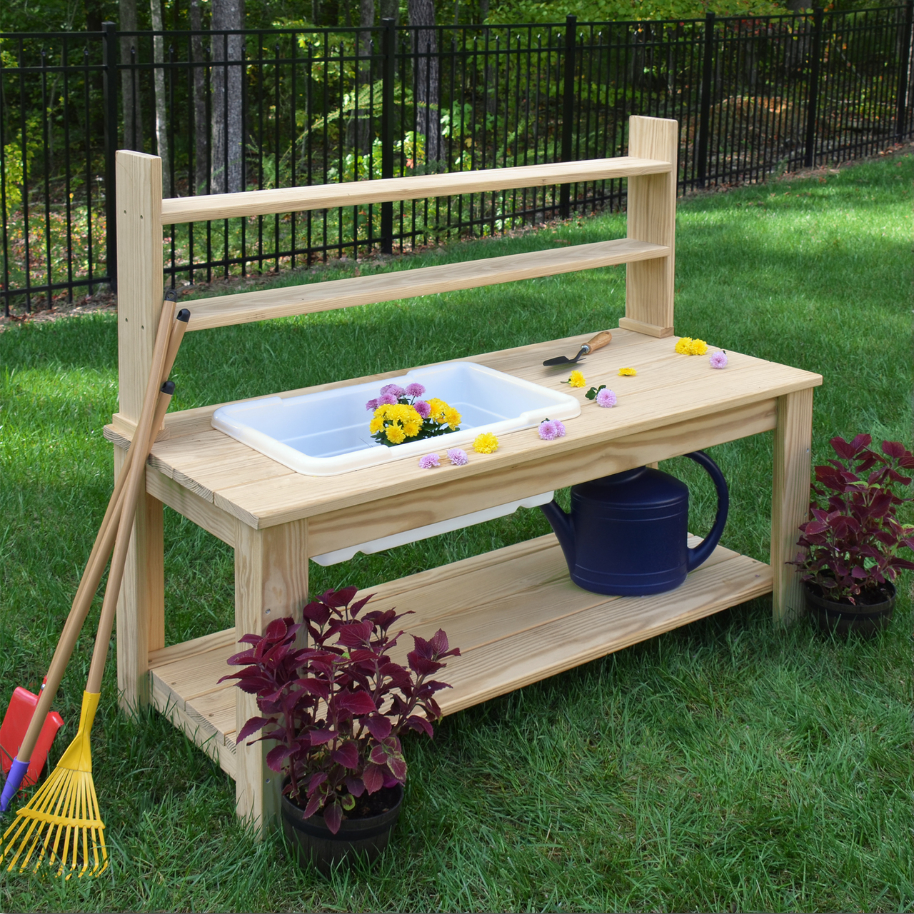 Outdoor Farmhouse Sink, with or without Hutch on Outdoor Patio Sink id=50637