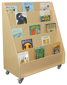 Mainstream Large Book Display Unit with locking casters