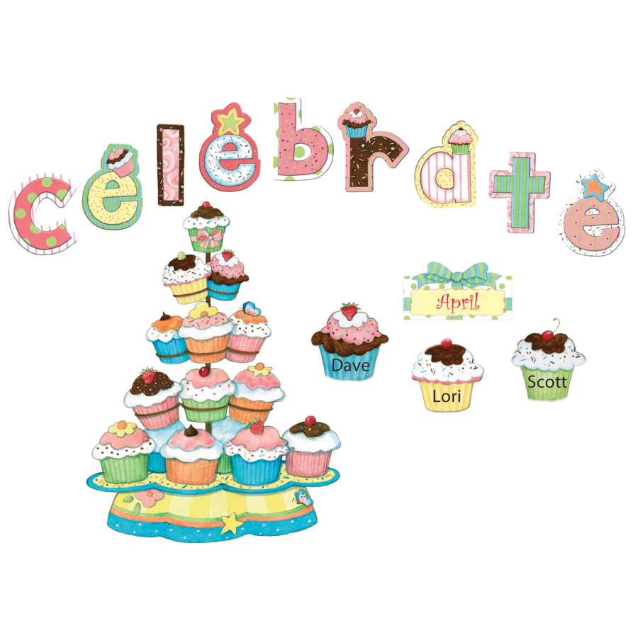 Teacher Created Resources Cupcakes Happy Birthday Chart