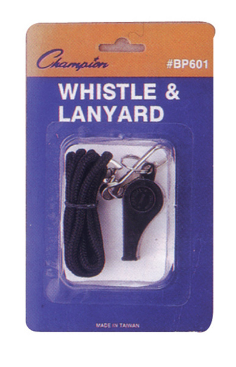 Plastic Whistle & Lanyard Set