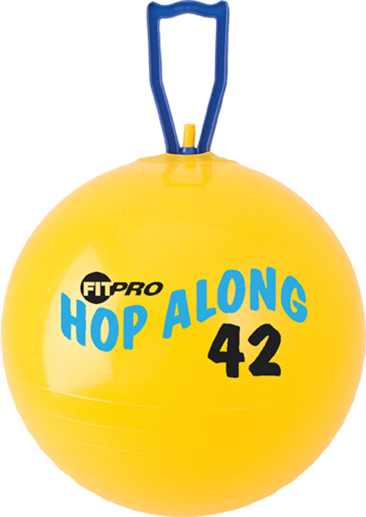 Fitpro Hop Along Pon Pon Ball, Junior, Yellow, 16 1/2