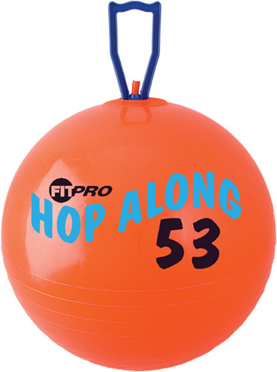Fitpro Hop Along Pon Pon Ball, Medium, Red, 20 1/2