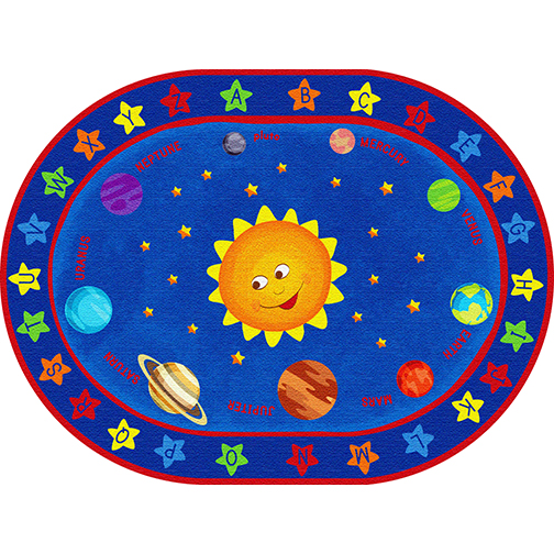 Out Of This World Alphabet Rug