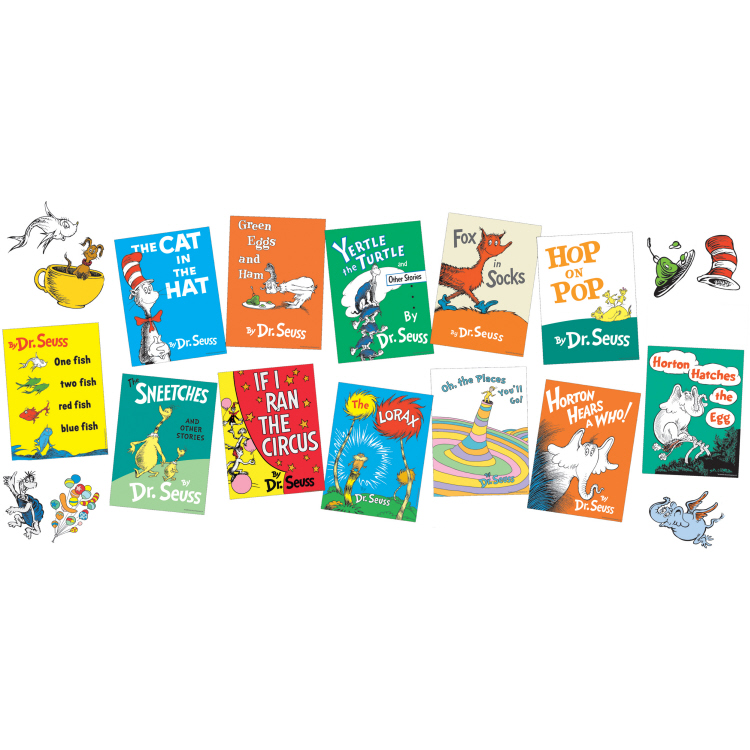 Eu847041 Dr Seuss Books Mini Bulletin Board Set