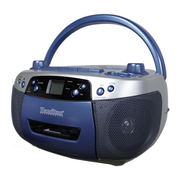 MP3 Cassette Recorder and AM//FM Radio Boombox HamiltonBuhl MPC-5050PLUS USB CD