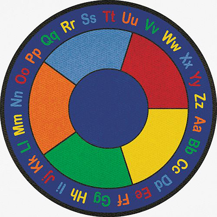 ABC Squares Rug, Round - 2 Sizes - strictlyforkidsstore.com