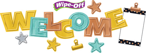 I ? Metal Wipe-Off® Welcome Mini Bulletin Board Set