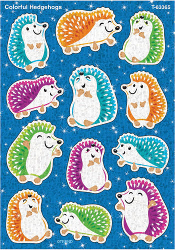 Color Harmony™ Colorful Hedgehogs Sparkle Stickers®