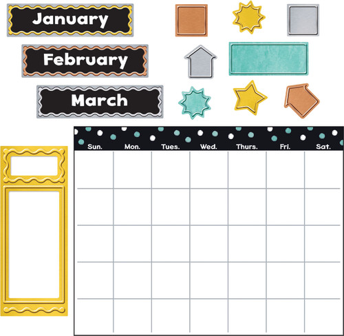 I ? Metal™ Wipe-Off® Calendar Bulletin Board Set