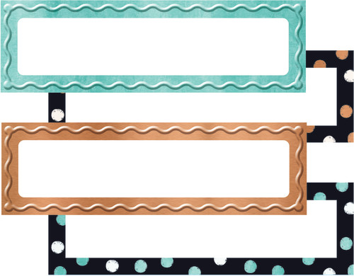 I ? Metal Dots & Embossed Desk Toppers® Name Plates Variety Pack