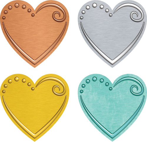 I ? Metal™ Hearts Mini Accents Variety Pack
