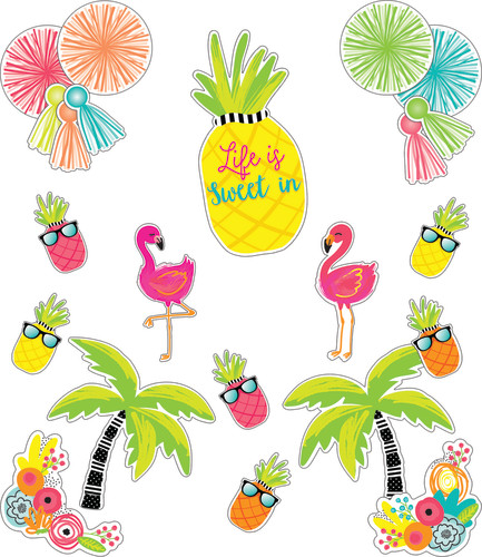 Schoolgirl Style™ Simply Stylish Tropical Life Is Sweet Bulletin Board Set