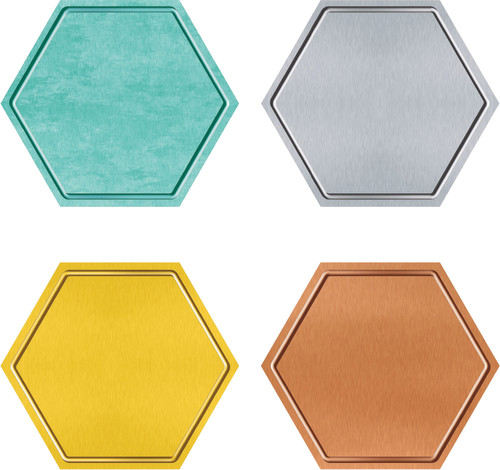 I ? Metal™ Hexagons Classic Accents® Variety Pack