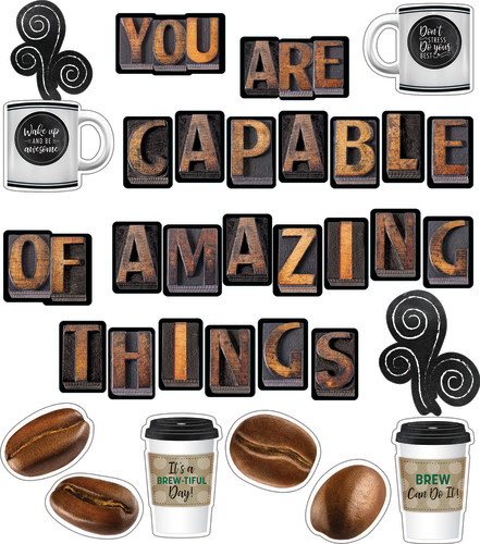 Schoolgirl Style™ Industrial Café You Are Capable of Amazing Things Bulletin Board Set