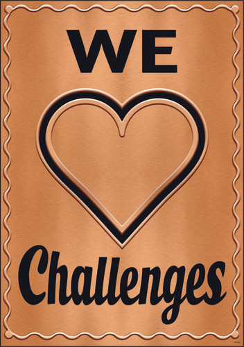 I ? Metal™ We ? Challenges Argus® Poster