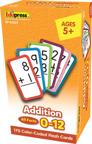 Addition Flash Cards, All Facts 0–12
