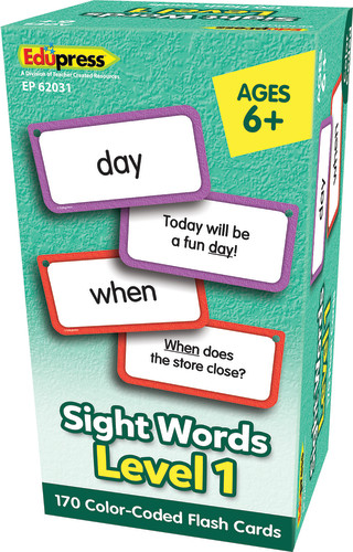 Sight Words Flash Cards, Level 1