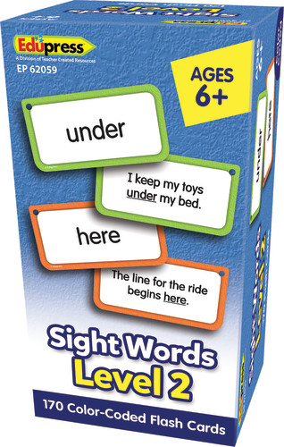 Sight Words Flash Cards, Level 2