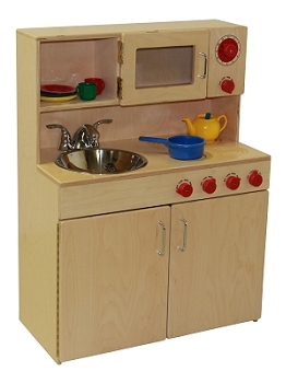 Mainstream Preschool Combo Kitchen Set with Stainless Sink & Real Faucet