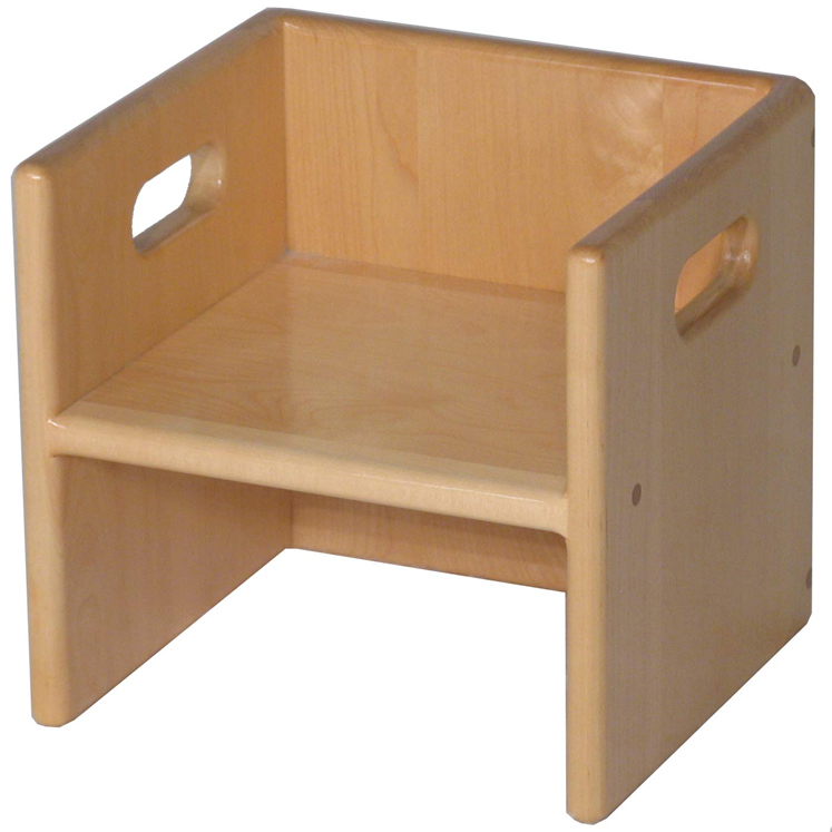 Solid Maple Cube Chair 11w X 10d 10 5h Strictlyforkids Com