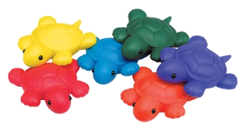 Indestructible Bean Bag Turtles - Set of 6