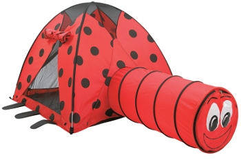 Pacific Play Tents Ladybug Print Tent and Tunnel