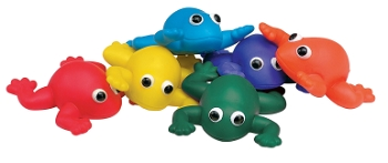 Indestructible Bean Bag Frogs - Set of 6