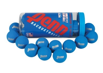 Penn Ultra Blue Racquetballs - Set of 12