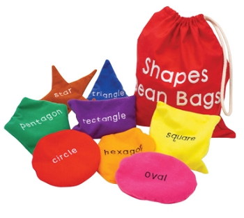 Educational Insights Washable Shapes Beanbags - Set of 8