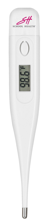 School Health Digital Thermometer with Battery, Plastic Carrying Case