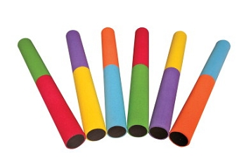 Foam Easy Pass Baton Set - Assorted Color - Set of 6