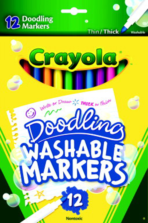 up to 75 off crayola non toxic doodling washable marker fine tip