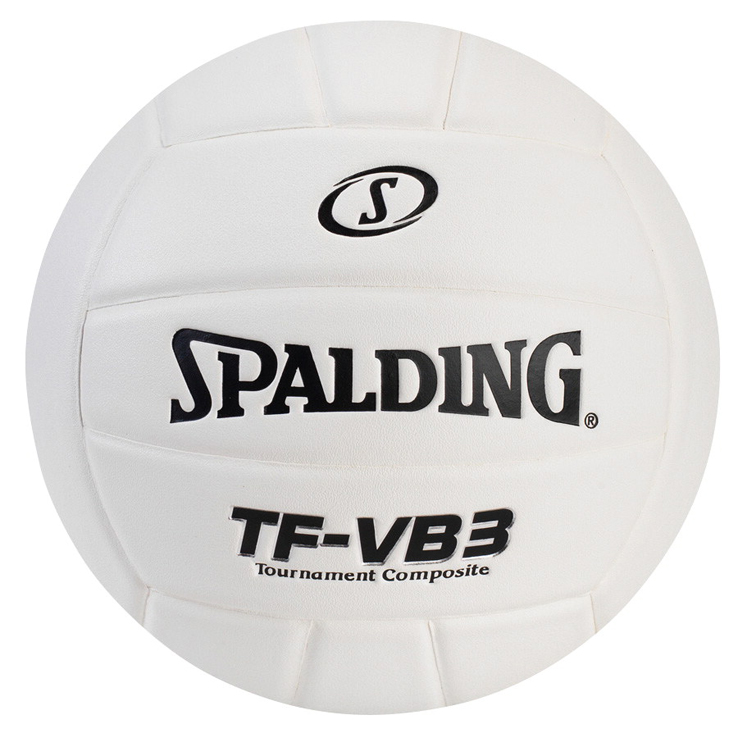 Spalding TF-VB3 Leather Volleyball, White