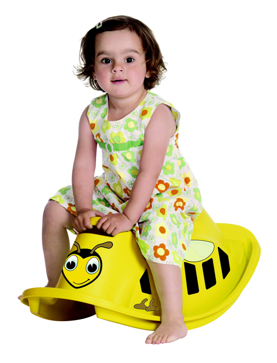 Dantoy Bumble Bee Rocker, 2 lb, Plastic, Yellow