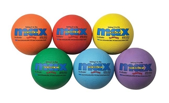 SportimeMax Playground Balls, 8-1/2 Inches, Multiple Colors, Set of 6