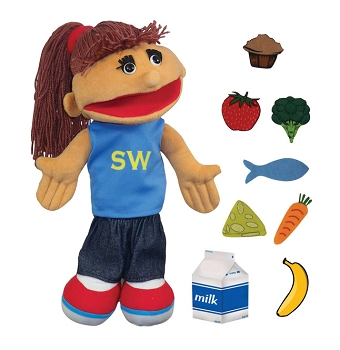 Smart Woman Puppet and Props, Set of 9