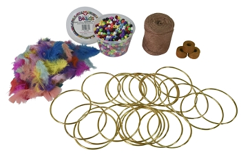Sax Dream Catcher Kit, 4 Inches, Pack of 24