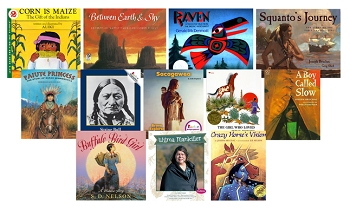 Native American Book Titles, Grades K to 2, Set of 12