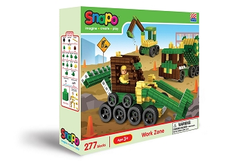 Snapo Work Zone: Standard Blocks Box - 277 Pieces